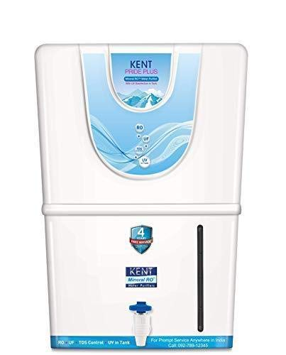 Kent Pride Plus 11067, 8 Ltr RO+ UF+ TDS Cont.+ UV, Water Purifier (White)