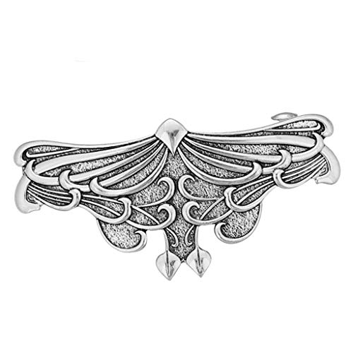 freneci Pinza para El Pelo Art Nouveau - Broches de Pelo Franceses Grandes Hechos a Mano con Pasador de Metal - Plata