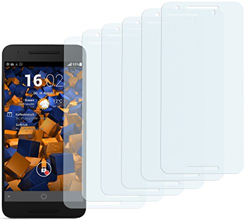 mumbi Schutzfolie kompatibel mit Huawei Google Nexus 6P Folie klar, Bildschirmschutzfolie (6x)
