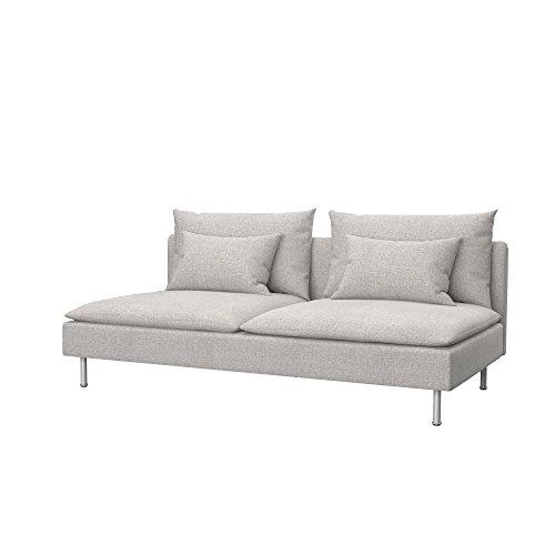 Soferia Funda de Repuesto para IKEA SÖDERHAMN sofá Cama, Tela Naturel Beige, Beige