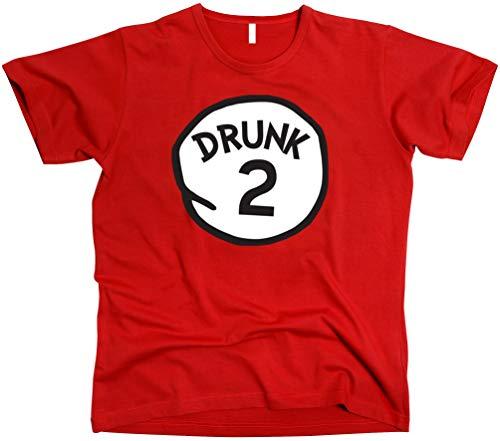 GunShowTees Drunk 2 Shirt, Large, Red2