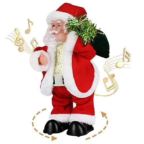Twerking Santa Claus, Shaking Hips Walking circle Santa Claus Singing Dancing Christmas Santa Claus Toys Xmas Electric Dolls for Kids