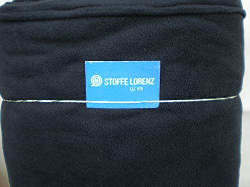Polar Fleece Stoff Meterware - Fb.Schwarz