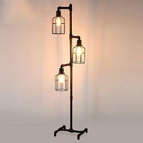 Living Room Floor Lamp Retro Industrial Wind Iron Art Water Pipe Lights