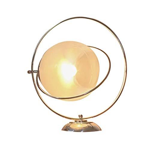 Lámpara de mesa retro con diseño de luna, para dormitorio, sala de estar, oficina, dormitorio, mesa de café, biblioteca, mesita de noche (interruptor: botón)