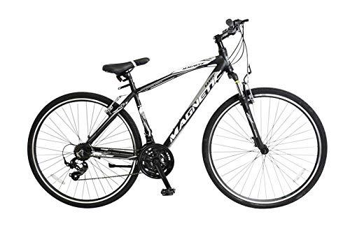28 Zoll Alu Aluminium Mountainbike MTB Herren Jugend Fahrrad Herrenfahrrad Herrenrad Jugendfahrrad Rad Bike 21 Shimano Gang Federgabel Gabelfederung Magnetic Schwarz Weiss