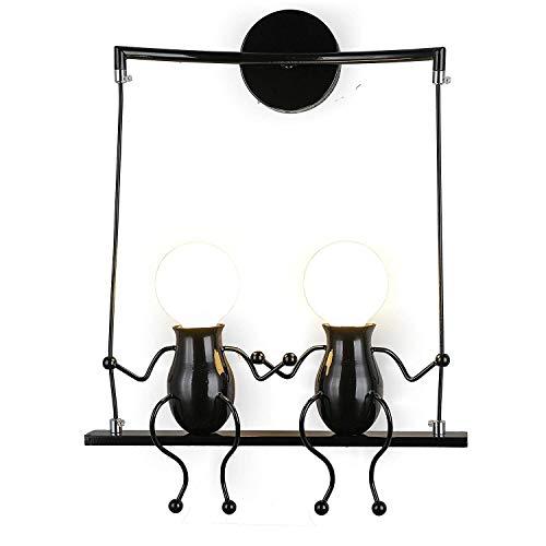 Lámpara para habitación infantil Vintage lámpara de metal lámpara de pared industrial latón acabado simple cabeza de cobre lámpara de pared con casquillos E27 Socket para casa, bar habitación infantil