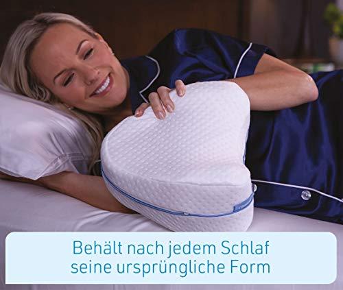 Mediashop Dreamolino Leg Pillow – ergonomisches Seitenschläferkissen für optimale Unterstützung – Memory Foam Kissen für Seitenschläfer stützt Beine, Knie und Rücken - Versand Edition - 3
