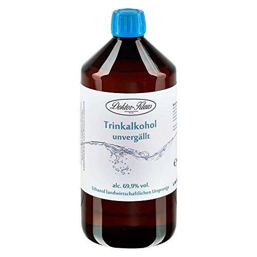 1 x 700ml Primasprit/Trinkalkohol/Weingeist/Ethanol 69.9% Vol. Alc. in brauner PET Flasche mit OV von Doktor Klaus