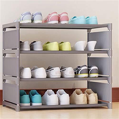 YFH Zapato, 4 Niveles de Tela no Tejida Simple Mueble Multiusos Gabinete de Zapatos Estante Juguete Plantas Almacenamiento Estante Organizador Muebles (Color : D)
