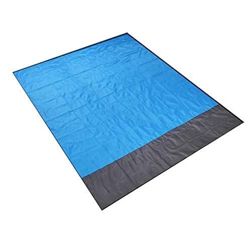 Colchoneta para Acampar Manta de Playa Impermeable Al Aire Libre Colchoneta portátil para Picnic Colchón Colchoneta para Picnic para Acampar al Aire Libre - Azul + Gris