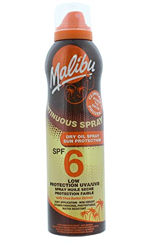 Malibu Continuous Dry Oil Spray with SPF6