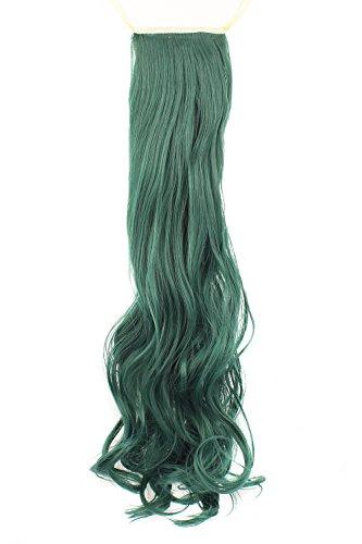 MapofBeauty 50cm/ 20 Pouce Longue Droit Queue de cheval Femmes Queue de cheval (Sombre Vert)