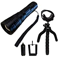 Practical Life Gear PLGTAC114 Wide Flood Beam LED Tactical Flashlight Kit