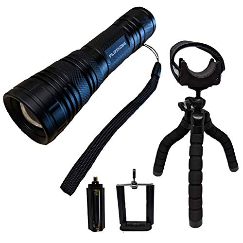 Practical Life Gear 7-Piece Tactical LED Flashlight Kit - 18650 High Lumens Cree LED, Zoomable Wide Flood Beam, IP44 Water Resistant, 5 Modes - Law Enforcement Gear, Camping Accessories, Camping Gear