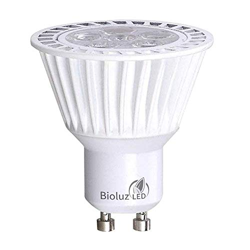 Bioluz LED 6.5W Dimmable GU10 LED 120v Bulb, 50W Halogen Bulbs Replacement, UL Listed, 350lm, 40