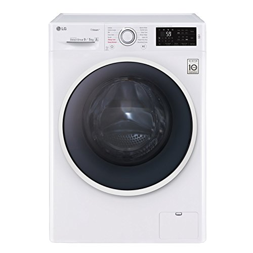 LG F4J6VG0W 9kg Wash 5kg Dry 1400rpm Direct Drive Freestanding Washer Dryer - White