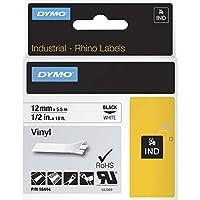 Dymo RhinoPro Tape Cartridge - 0.50quot; Width x 18 ft Length - 1 Each - Vinyl - Thermal Transfer - White by DYMO