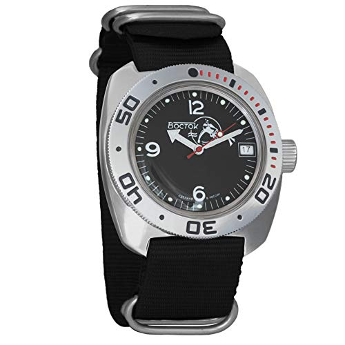 Vostok anfibios Scuba Dude automático para hombre reloj de pulsera automático de cuerda automática de buceador militar anfibia Ministerio caso reloj #710634