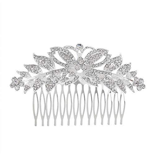 Oyfel Bijoux Perle Strass Mariage Nuptiale Nuptiale Accessoires Cheveux Clip Strass de Cheveux Fashion Retro Elegant Ladies Pearl Rhinestone Hair Clip Wedding Bridal Jewellery Bridal Hair