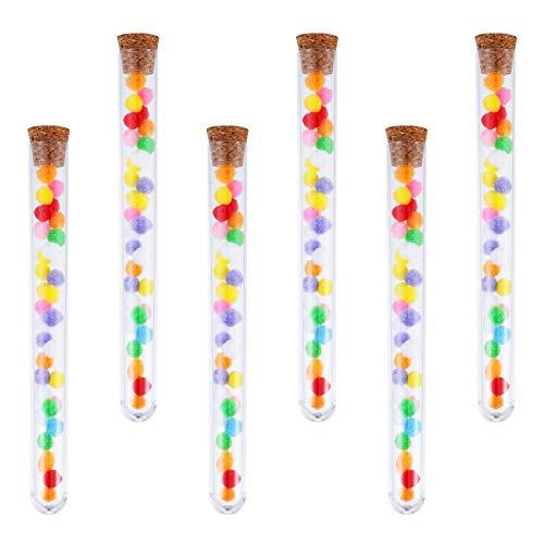 Xinzistar 20 provette in vetro con tappo in sughero, 20 ml, in plastica trasparente, per fiori, bomboniere, matrimonio, caramelle, sali da bagno, spezie