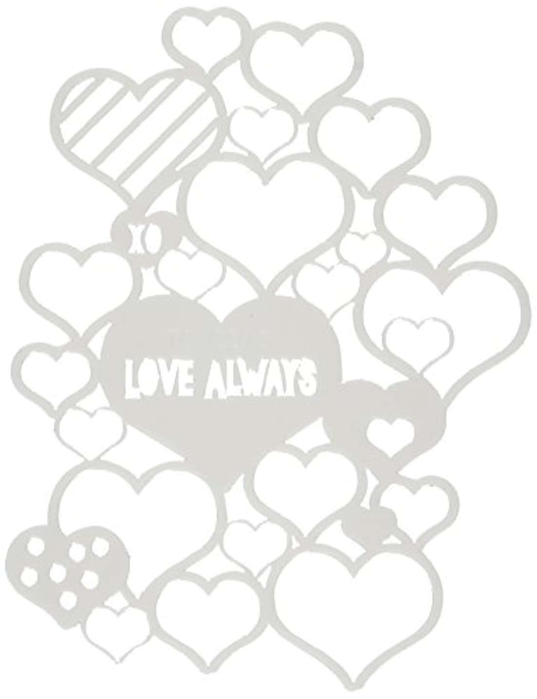 CRAFTERS WORKSHOP Love Always Fragments Templates, 4 by 4