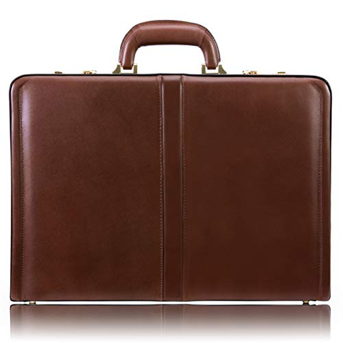 McKlein, V Series, Reagan, Top Grain Cowhide Leather, Leather 3.5' Attaché Briefcase, Brown (80444)