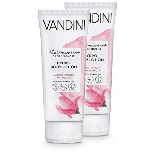 VANDINI Hydro Body Lotion Damen mit Magnolienblüte & Mandelmilch - Body Lotion für normale bis trockene Haut - vegane Body Lotion für Frauen ohne Silikone, Parabene &...