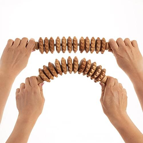 Tuuli Accessories - Masajeador flexible con mango de madera (40 cm)