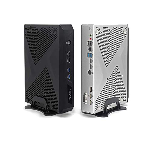 Gaming PC I7 8700K,HYSTOU Mini PC Windows 10 Nvidian GTX1650,64GB DDR4 RAM+1TB SSD+2TB HDD,4 Display Port(2HD+DP+DVI) USB*8 Carcasa de Aluminio Pantalla 4K WiFi Bluetooth, 3 Años de Garantía
