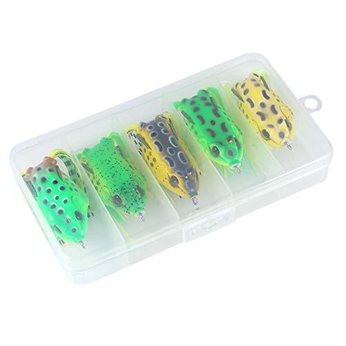 Narootec Leurres de pêche, 5pcs / Box Bionic Fog Appâts Crochet Bait Crochet Attrape-Appâts pour La Pêche en Plein Air