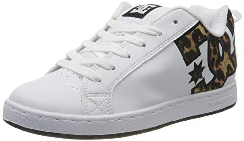 DC Shoes Damen Court Graffik Skate Shoe, Leopard Print, 37 EU