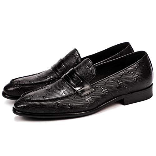 Zapatos de cuero de los hombres del patrón de avestruz de cuero de negocios zapatos de vestir