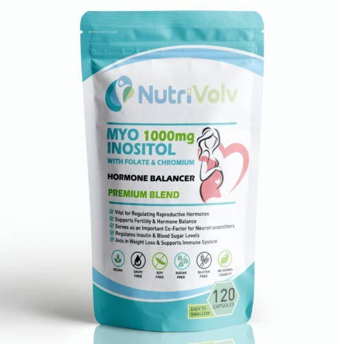 Myo Inositol 1000mg with Folate & Chromium | 120 Capsules | Hormone Balancer