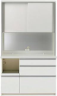 パモウナ 食器棚WL パールホワイト 幅120×高さ198×奥行45 日本製 WLL-S1200R