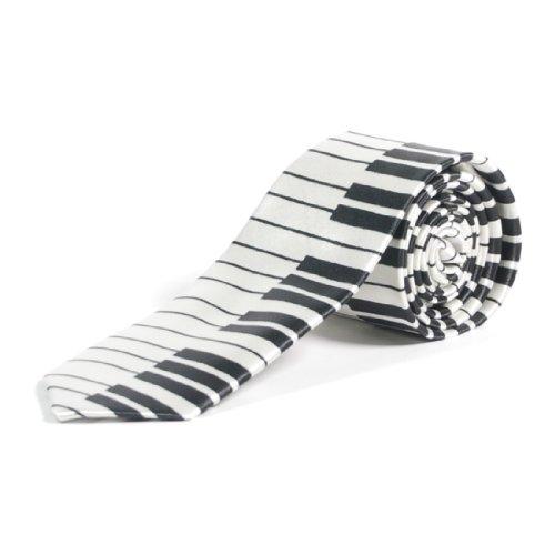 Cravate avec touches de piano