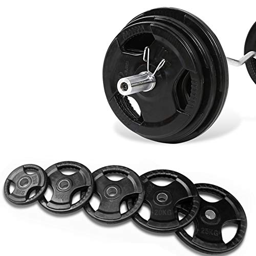 Discos de Pesas con Goma/Placas de Pesas Olimpicas (Orificio de 50 mm) 2.5kg-20kg Discos De Pesas para acondicionamiento físico.P-1,2X2.5kg