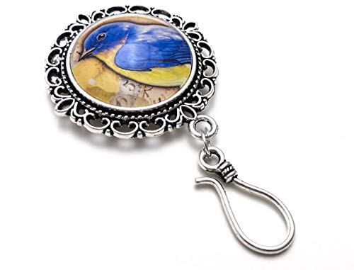 Bluebird Portuguese Knitting Pin with Optional Stitch Markers for Knitters