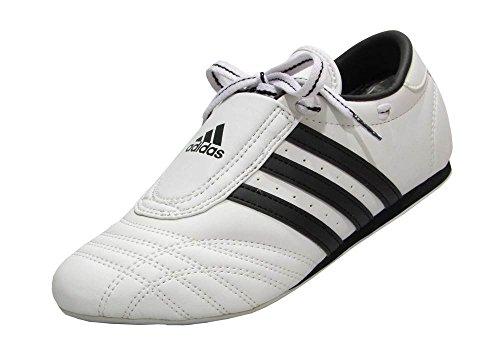 Adidas SM II - Zapatillas bajas para artes marciales Taekwondo, Karate y Kungfu, white w/black stripes