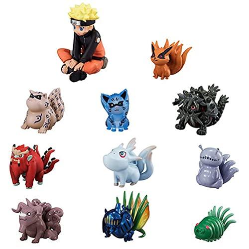 YLJXXY 10pcs Figura de acción de Naruto Kyubi No Hay Juguetes de PVC Toy Collection niños