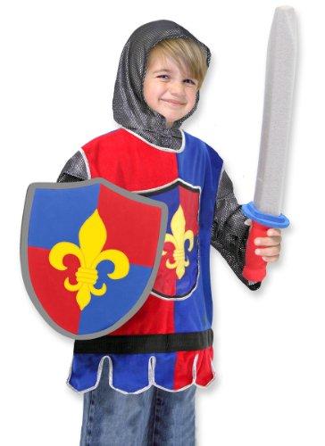 Melissa & Doug- Knight Disfraz Caballero para Nios, Multicolor, 3 a 6 aos (14849)