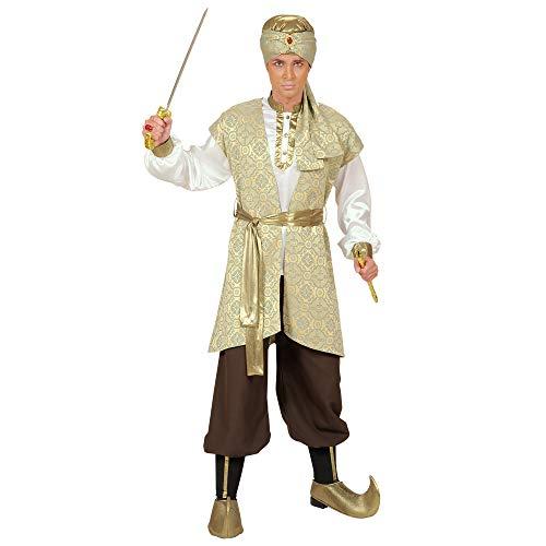 Widmann 90393 – Kostüm Prinz von Persien, Hemd, Weste aus Brokat, Hose, Gürtel, Schuhüberzieher, Turban, Orient, 1001 Nacht, Mottoparty, Karneval