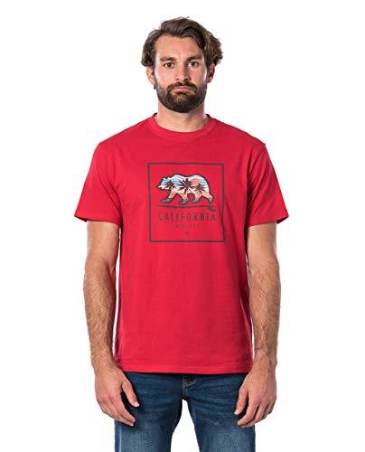 Rip Curl Destination Surf Tee Uomo,Maglietta,Manica Corta T-Shirt,Maniche Corte,Maniche Corte,Scollo Rotondo,Impronta,Red,M