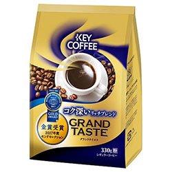 KEY COFFEE(キーコーヒー) グランドテイスト コク深いリッチブレンド(粉) 330g×6袋入×(2ケース)