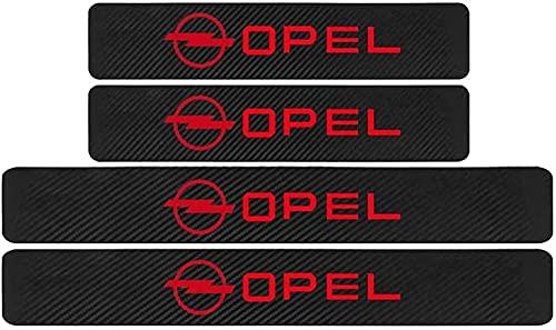 4 Stück Kohlefaser Einstiegsleisten Zierleisten für Opel Zafira a b Astra h g j k f Mokka Corsa b c d Vectra, Anti-Kratz-Schutzstreifen Willkommen Pedal Zubehör