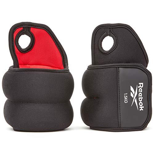 Reebok Unisex Handgelenk-gewichte - Handgelenk Gewichte 1Kg, Schwarz, 1 KG EU