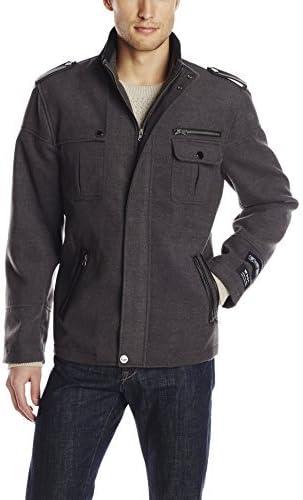 STACY ADAMS Men's Big-Tall Tao Zippered Waist Length Top Coat, Charcoal, 50 Regular