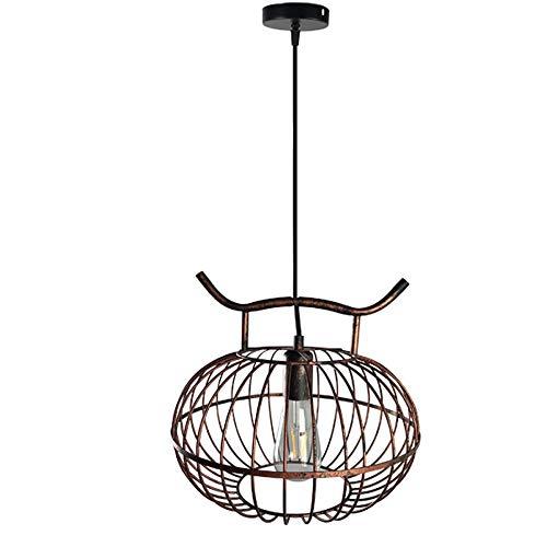 Lustres en fer vintage, village rétro éclairage LED allée décorative petite lumière pendante antique industriel bar hôtel table plafonnier (Design : B)