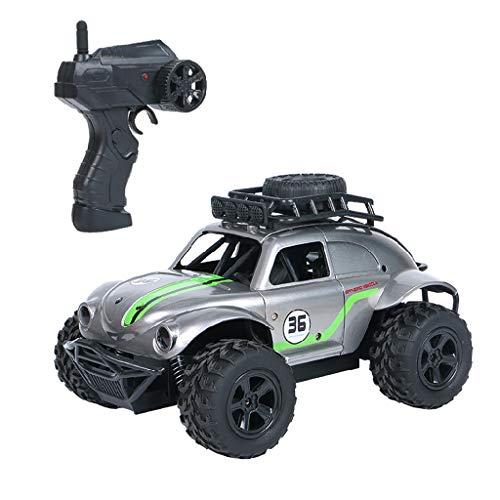 MEIBAOGE 2.4G 4CH RC Car Beetle Rock Crawlers Control Remoto Simulación de Autos Modelo Off-Road Juguetes al Aire Libre para niños Regalos, Soporte Remoto, Gris