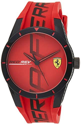 Ferrari Reloj Analógico para Hombres de Cuarzo con Correa en Silicona 0830617